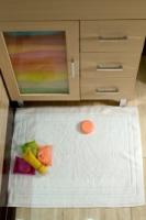 Гостиничное махровое полотенце